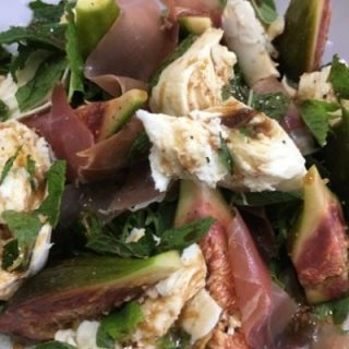 zesty fig salad final salad drizzled wtih lemon and balsamic
